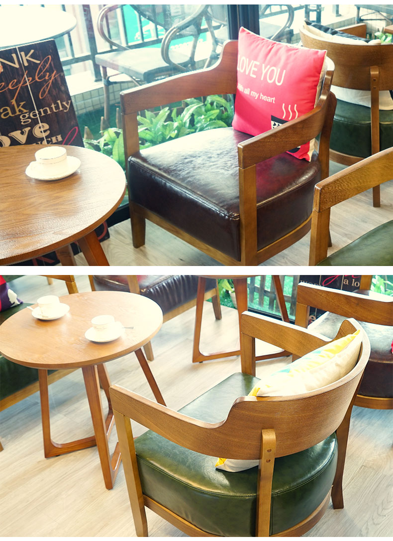 Contemporary Starbucks Coffee Furniture Wood Table Seating