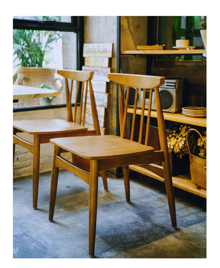 Dining Room Furniture Brands: Nordic Solid Wood Dining Chair And Square Table Group188