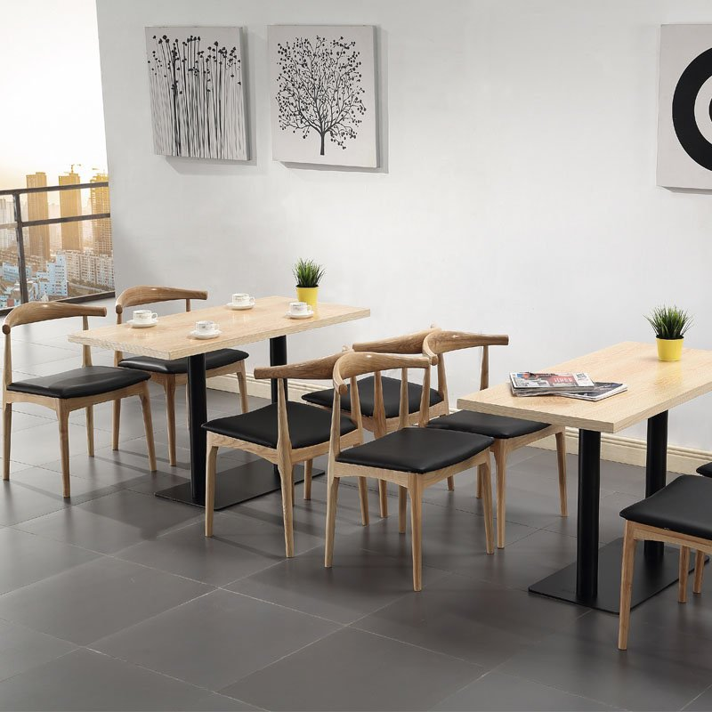 best modern restaurant and snack bar wood table and chair set group1. Black Bedroom Furniture Sets. Home Design Ideas