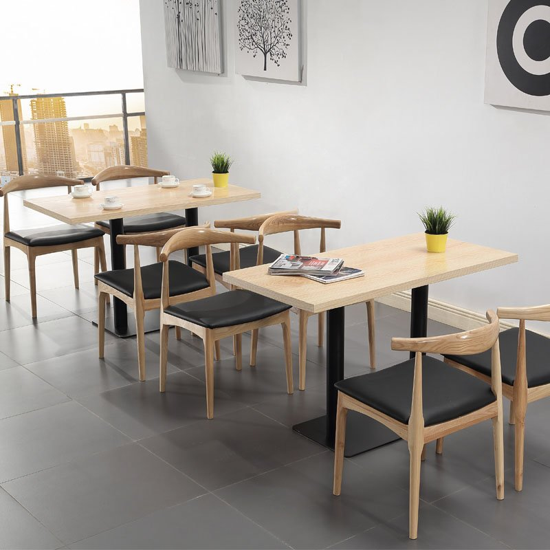 best modern restaurant and snack bar wood table and chair. Black Bedroom Furniture Sets. Home Design Ideas