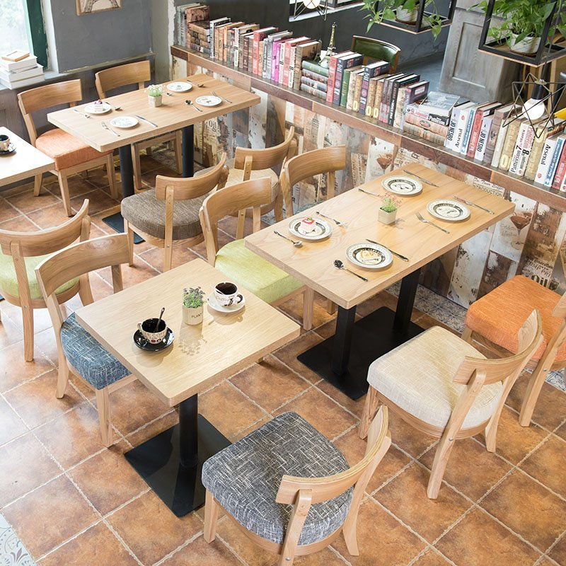 Nordic Style Customized Coffee Shop Furniture Wooden