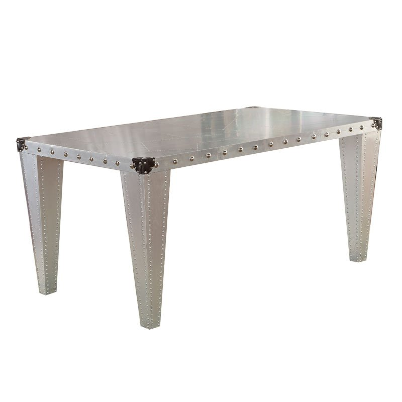 Vedel Industrial Loft Zinc Wood Rectangle Coffee Table: Best Rustic Table & Archaize Table And Antique Refectory Table