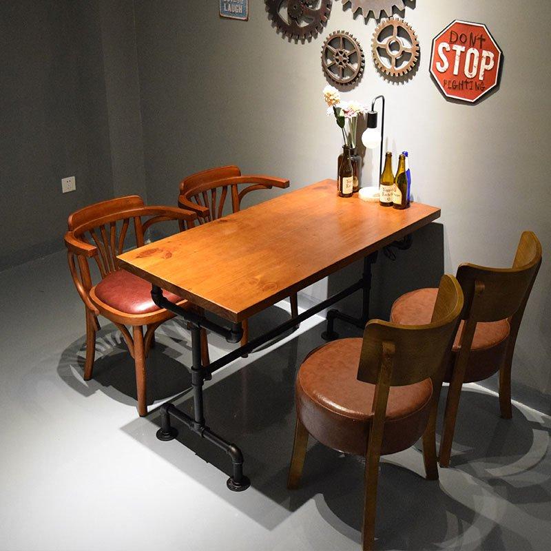 Coffee Shop Furniture Hot Tub: Retro Industrial Style Hot Pot Restaurant Wood Furniture