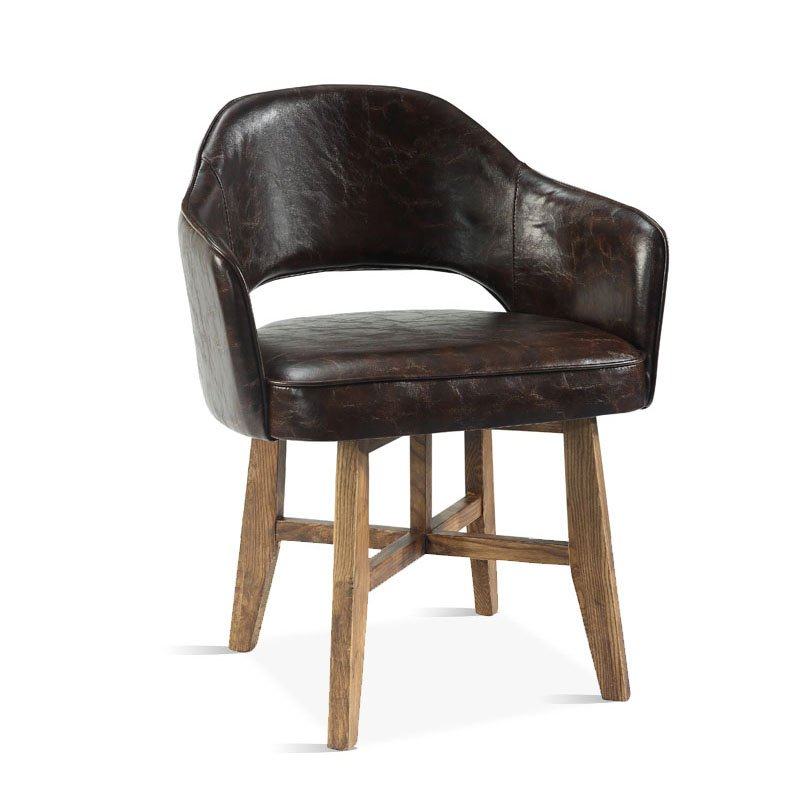 Antique Leather Upholstered Dining Chair Seating CB004 - Antique Leather Upholstered Dining Chair Seating Cb004 Industria