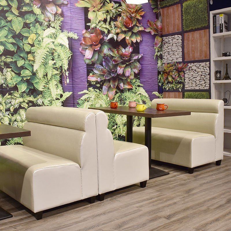 Comfortable Contemporary Furniture: Modern Dining Table And Comfortable Booth Sofa Se001-58