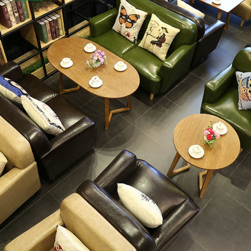 Bon Modern Cafe Leather Sofa Dining Table Combined SE006 13